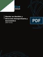 Master en Gestion y Direccion Aeroportuaria y Aeronautica Programa