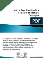 Suspension y Terminacion de Las Relaciones de Trabajo Fichas 6 y 7