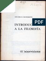 MANDRIONI Hector - Introduccion a La Filosofia