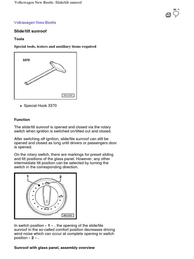 Sunroof New Beetle Switch Screw Modutrol Motor Wiring Diagram