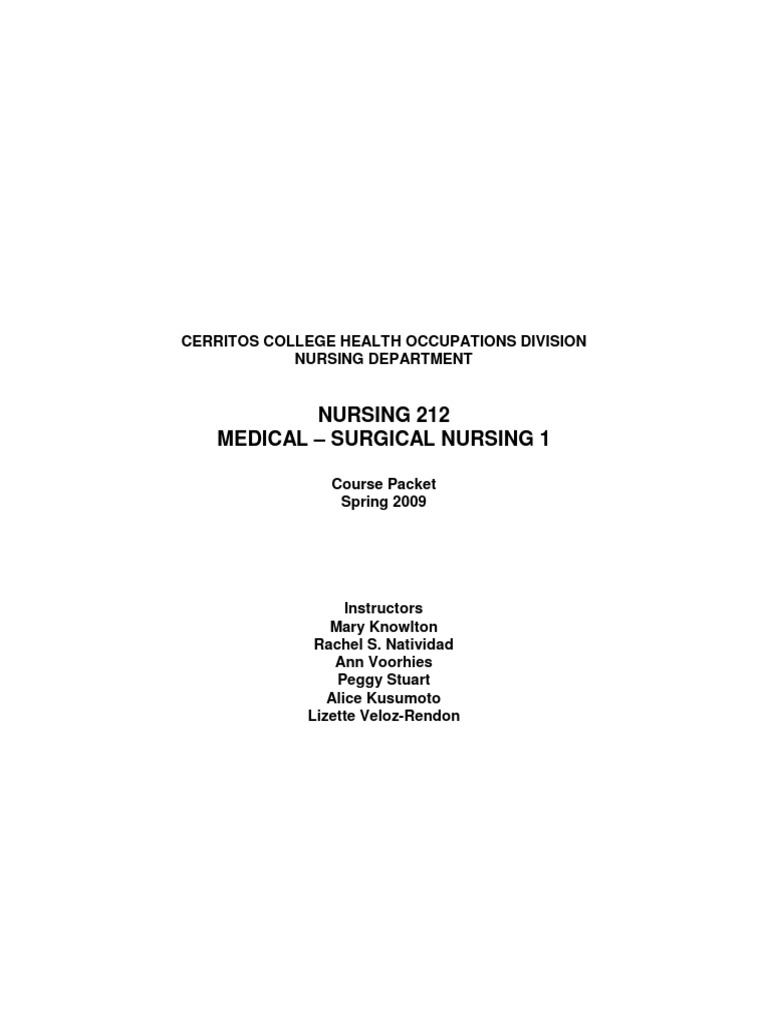 Course Packet | Nursing | Educational Assessment