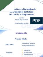 INTRODUCCION A LA NORMATIVA DE CONTRATACIONES DEL ESTADO D.L. 1057 Y SU REGLAMENTO