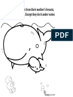 Baby Whale Coloring Book Page