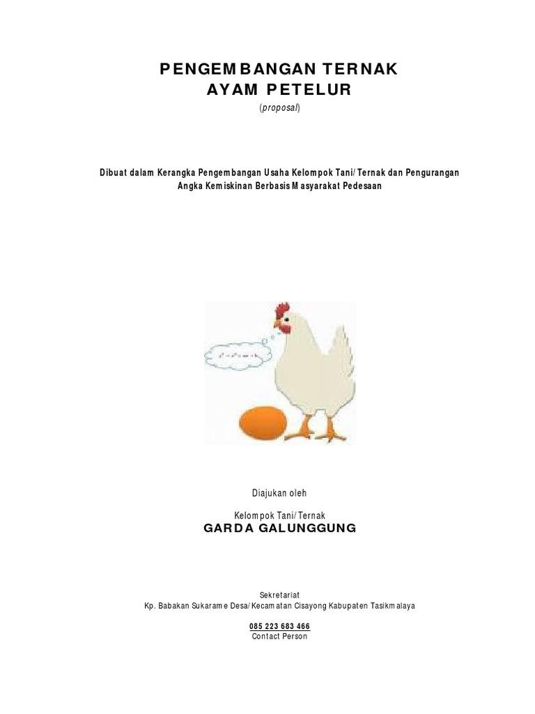 Contoh Proposal Usaha Ayam Petelur Pdf - Berbagai Contoh