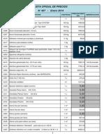 Enero 2014 List a Precios 457