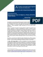 UCA (2013) - Estimaciones de tasas de indigencia y pobreza (2010-2012)