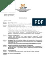 Plano de Curso - História Do Brasil Imperial - Suam - 2013-2