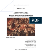 A Construção Da Modernidade Européia
