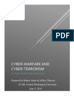 Cyber-warfare and Cyber-terrorism Analytical Report