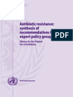 WHO Antibiotic Resistance Recommendations