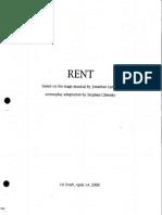 Rent Screenplay 1st Draft