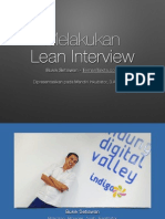 Melakukan Lean Interview