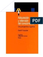 136293963 Ausubel Adquisicion y Retencion Del Conocimiento PDF