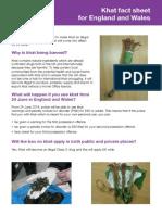 Khat Fact Sheet - English