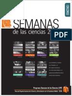 Calendario Semanas de Las Ciencias 2014 B-1