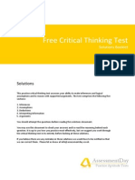 CriticalThinkingTest Solutions