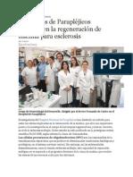 Científicos de Parapléjicos Trabajan en La Regeneración de Mielina Para Esclerosis