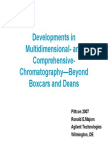 Developments in Multidimensional- And Comprehensive- Chromatography—Beyond Boxcars and Deans