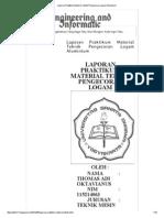Laporan Praktikum Material Teknik Pengecoran Logam Aluminium