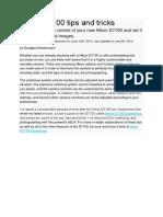 Nikon D7100 Tips and Tricks