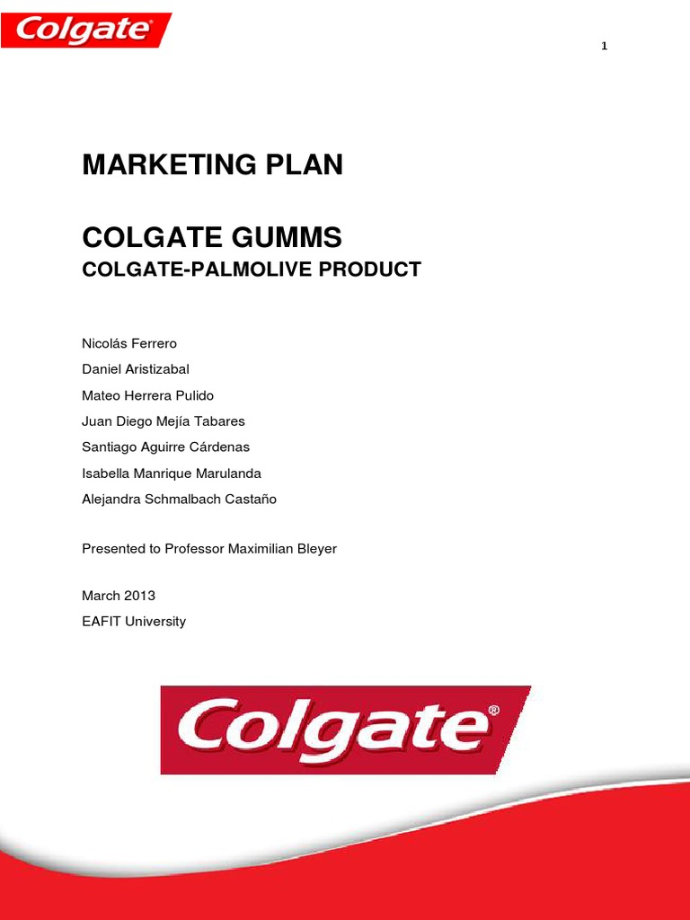 colgate market segmentation