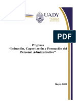 Induccion Capacitacion y Formacion Del Personal Administrativo