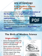 History of Geology the Birth of New Science