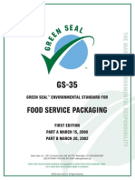 Food Service Packaging Gs-35