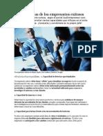 Características de Los Empresarios Exitosos