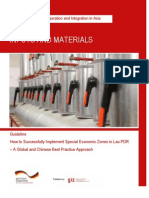 Inputs and Materials- Guideline on How to Successfully Implement Special Economic Zones in Lao PDR