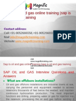 Sap is Oil and Gas Online Training , Online Sap is Oil and Gas Training