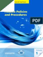 Finance Policies and Procedures Manual Volume 1
