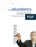 Redundancy Checklist for HR Managers and Employers
