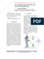 Reduced Energy Consumption using Wireless Body Area Networks In health monitoring
