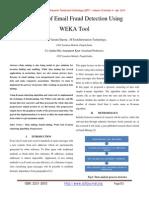 Analysis of Email Fraud Detection Using WEKA Tool
