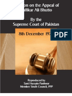 Decision of Appeal of ZA Bhutto by the Supreme Court