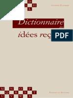 Dictonaire des idees recues - Flaubert