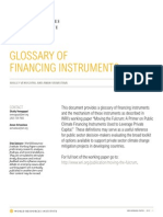 Glossary of Financing Instruments