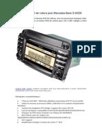 Lecteur DVD de Voiture Pour Mercedes-Benz S-W220