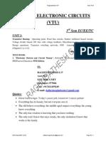 Analog Electronic Circuits unit 2 VTU