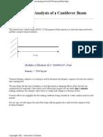 Trasient Analysisi of Cantiveler Beam