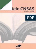 Caietele CNSAS - Anul III, Nr. 2 (6) Din 2010