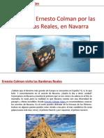 Pasea con Ernesto Colman por las Bardenas Reales, en Navarra
