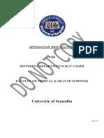Latest Affiliation Rules university of sargodha