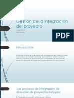 Gestión de La Integración Del Proyecto - Tielman