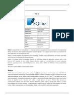 SQLite - Embedded Database