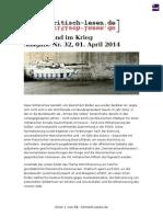 Deutschland Im Krieg (Kritisch Lesen 32, April 2014)