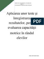 Aplicarea Unor Teste Şi Înregistrarea Rezultatelor