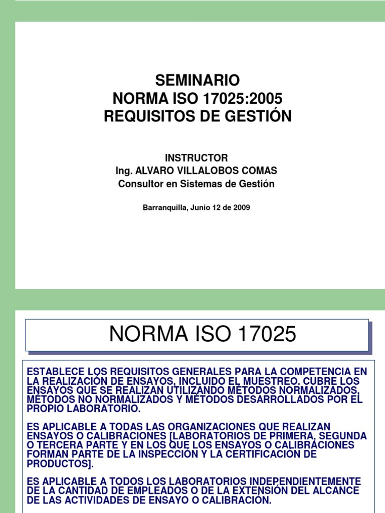 Charla ISO 17025 Requisitos de Gestión - Antiguo AV OK 1
