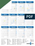 calendario - 2014